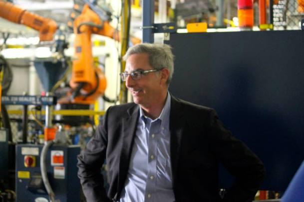 Paul Elio inside the Elio Motors facility.