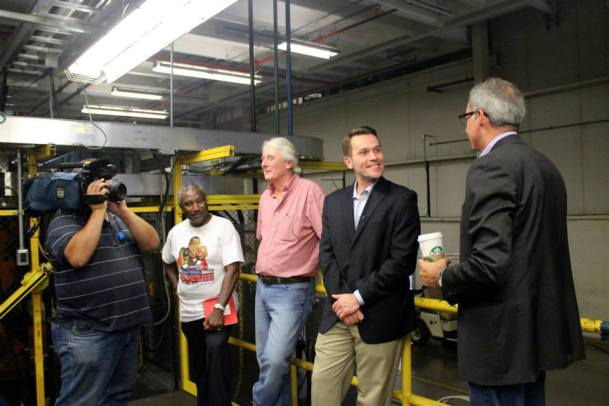 Paul Elio interviewed by NBC in the facility