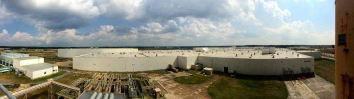 Panoramic view of the Elio Motors facility.