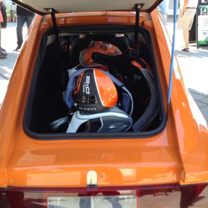 Golf clubs in the trunk