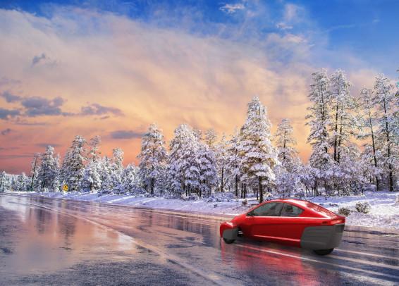 P5 in a snow scene